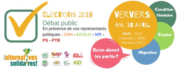 Les Equipes Populaires - 16.4.19 Débat public