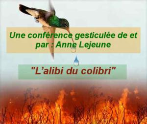 Les Equipes Populaires - affiche colibri Anne lejeune