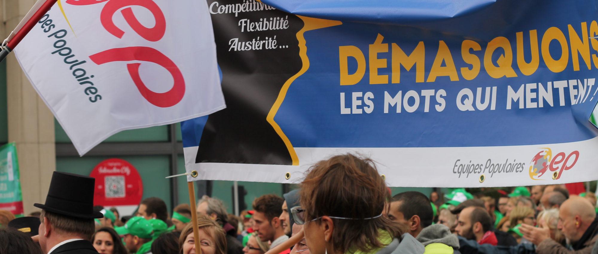 Les Equipes Populaires - Manifestation