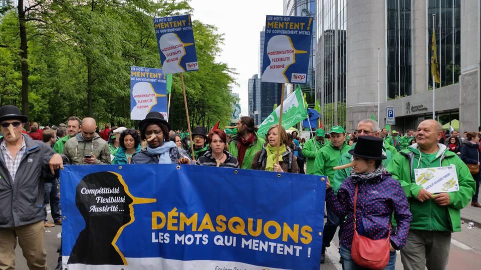 Les Equipes Populaires -Manifestation